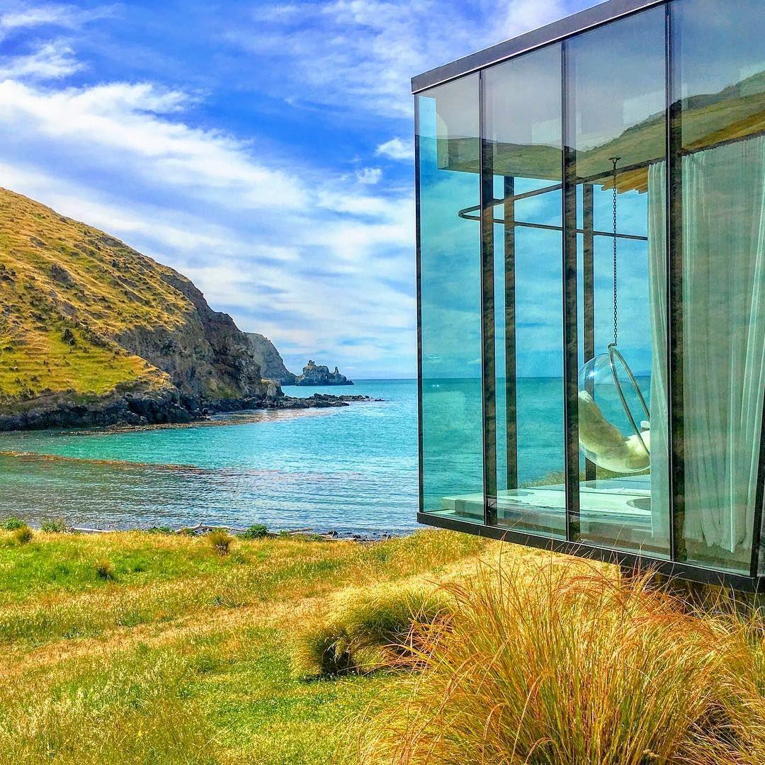Annandale Lodge On Banks Peninsula, Canterbury, New Zealand #luxurylodge  Instagram Photo By @