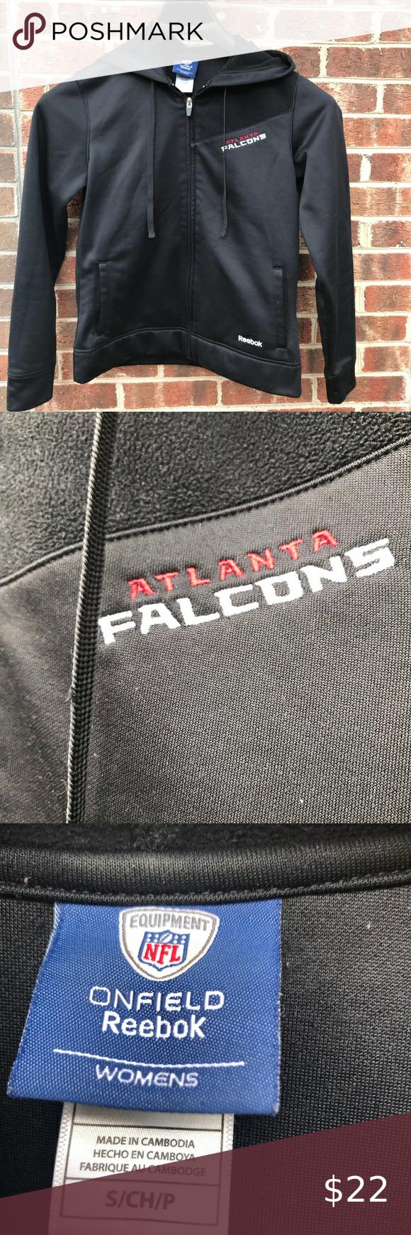 Reebok Women S Atlanta Falcons Jacket Sz S Women S Black Reebok Atlanta Falcons Jacket With 2 Front Op Windbreaker Jacket Women Reebok Women Womens Windbreaker [ 1740 x 580 Pixel ]