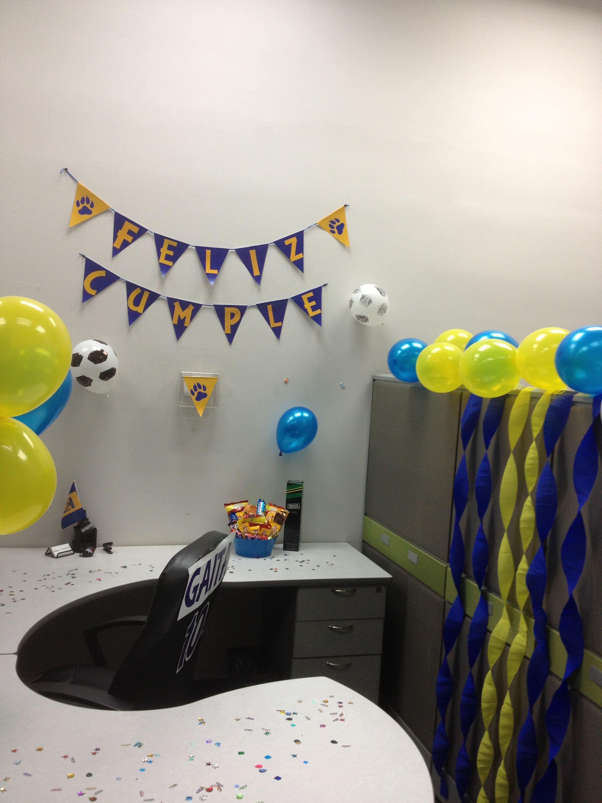 Cumplea os en la oficina decoracion fiestas pinterest for Fiesta en la oficina