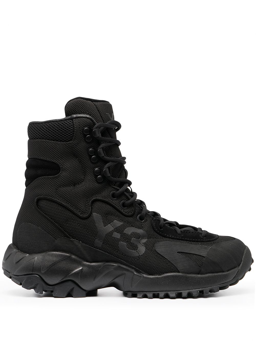 Y 3 Notoma High Top Sneakers Farfetch Boots Black Boots High Top Sneakers
