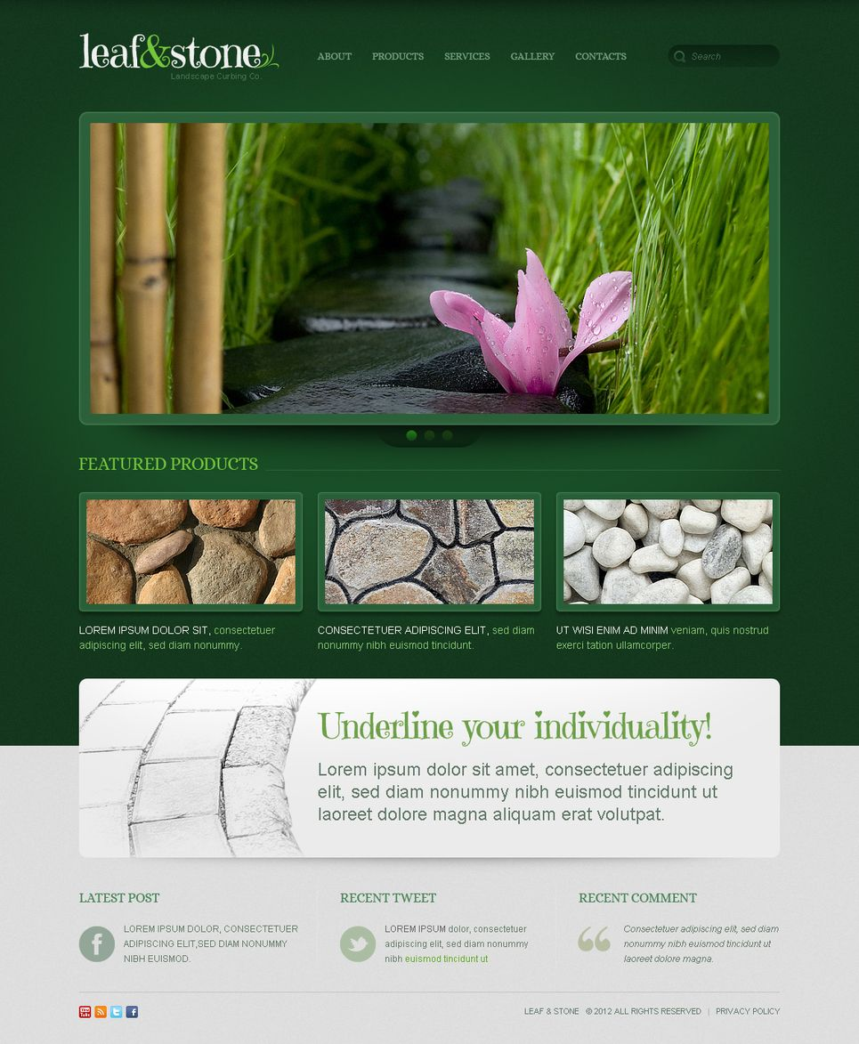Landscape Design Moto Cms Html Template 41228 Free Landscape