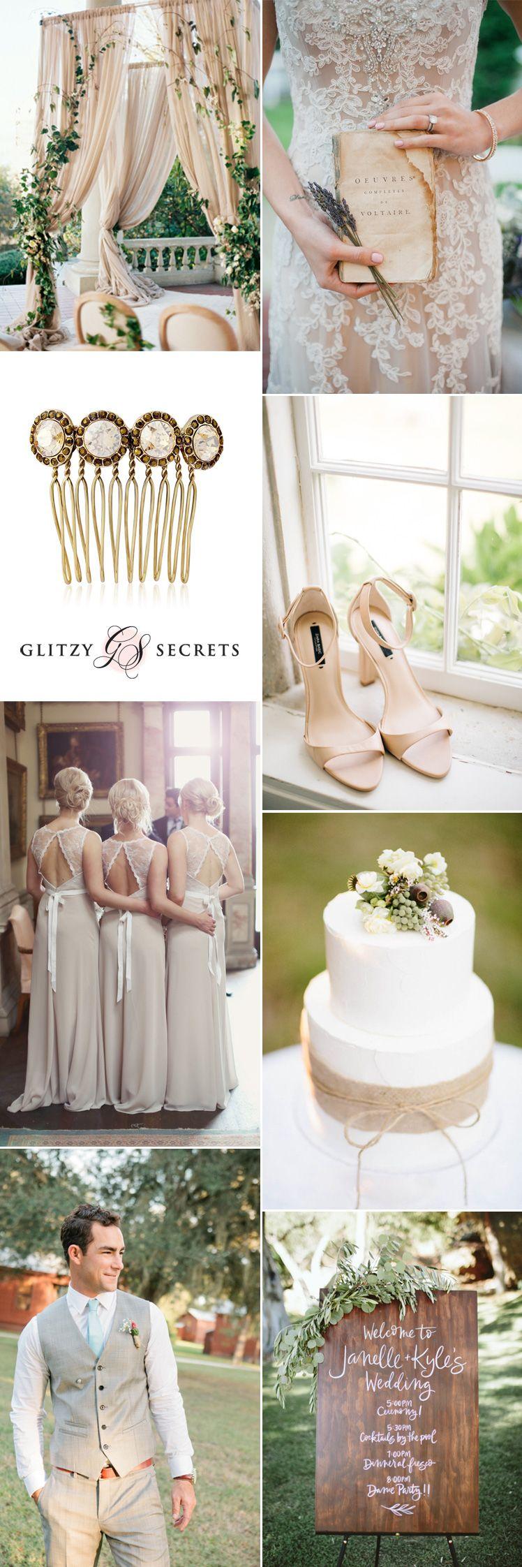 Beautiful Beige Wedding Ideas | Beige wedding, Beige and Wedding ...