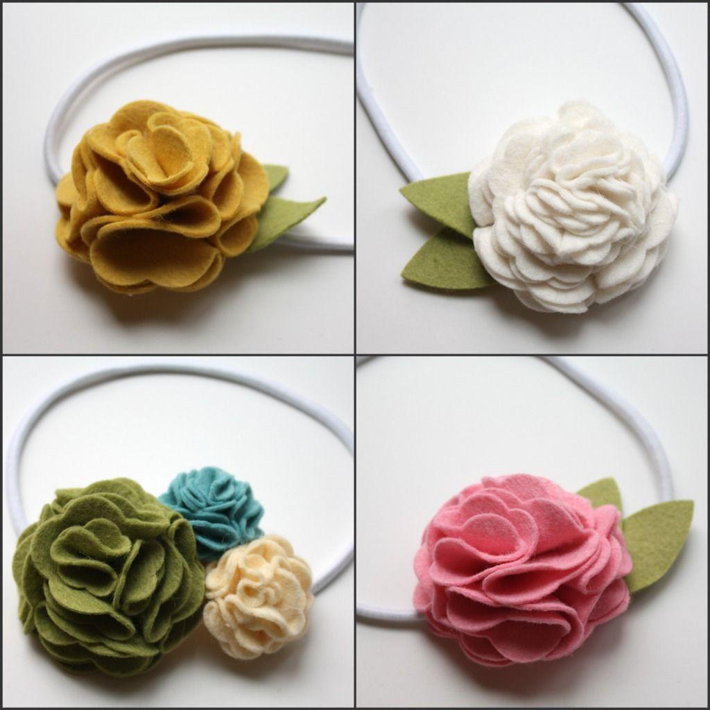 felt flowers tutorial