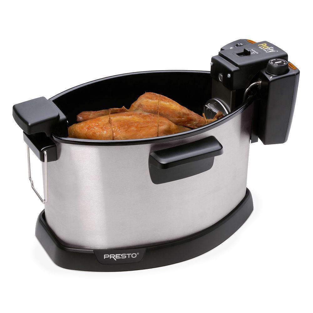 Electric Rotisserie Turkey Fryer Stainless Steel Appliances W Fry