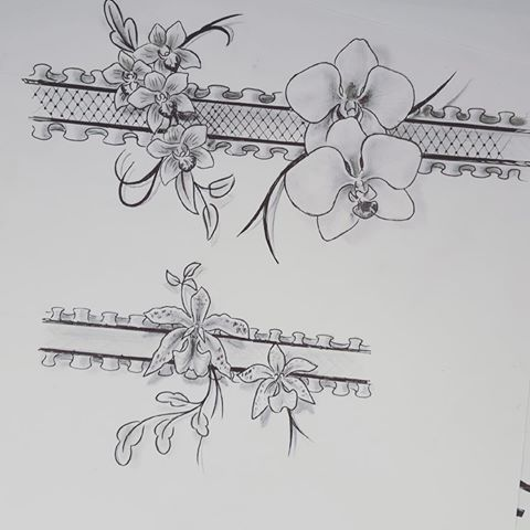 a avance bient t mon b b tatoo orchidee jarreti re tatouage girl fleurs tatoo. Black Bedroom Furniture Sets. Home Design Ideas