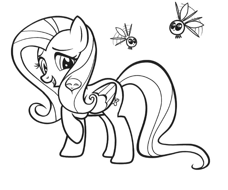 coloring pages fluttershy | Kids Under 7: My Little Pony Coloring ...