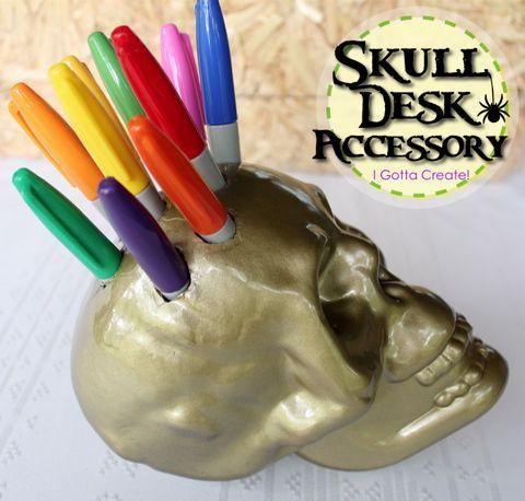 I Gotta Create!: Skull Desk Accessory Tutorial