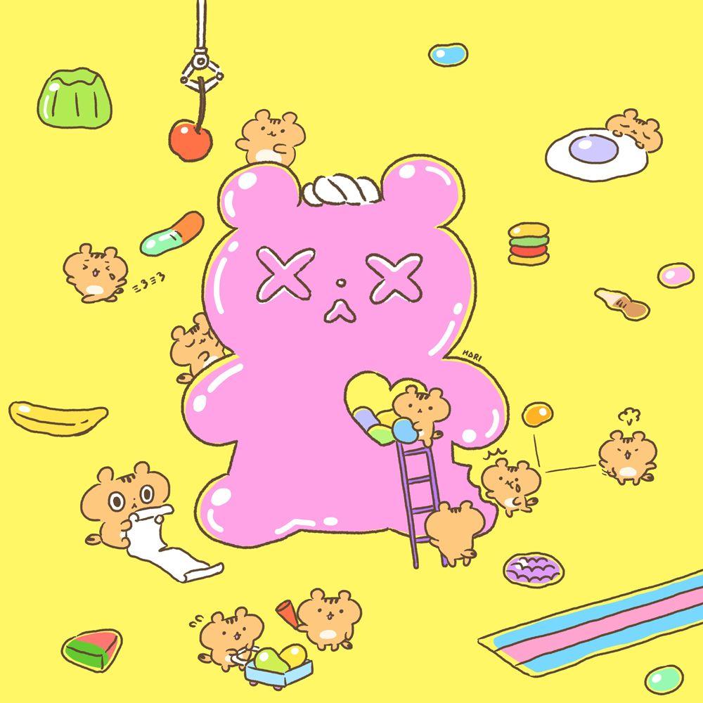ranran giant gummy bear ranran illustration characterdesign