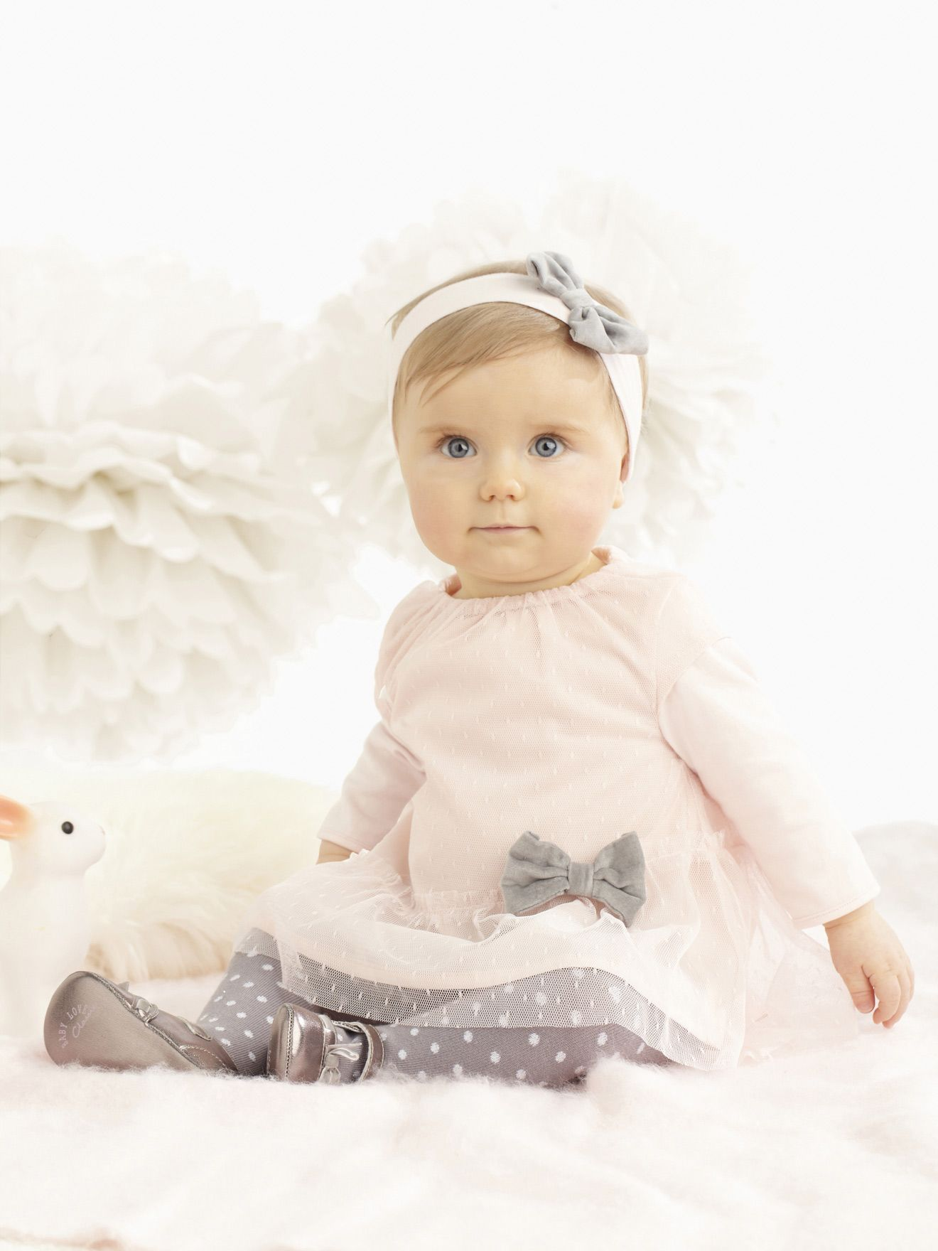 Robe blanche hiver bebe