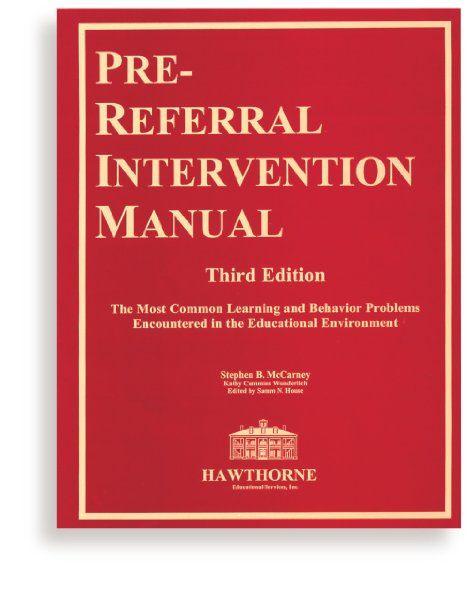 pre referral intervention manual third edition amazon books rh pinterest ca Student Solution Manual Kindergarten Student Manual