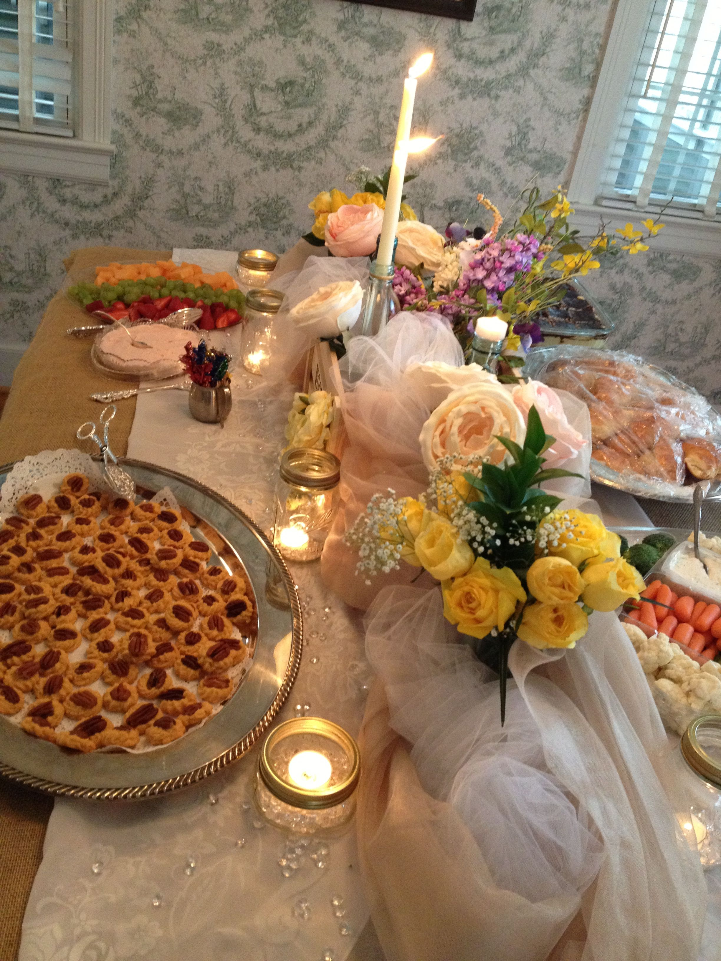 bridal shower food table