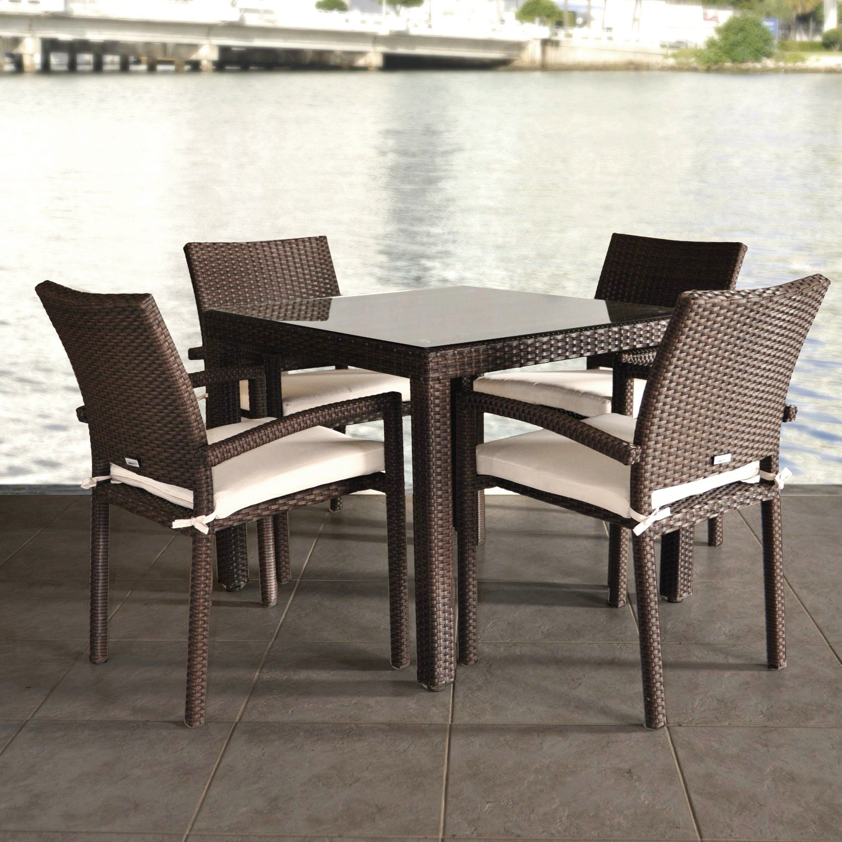 Outdoor Zumba All Weather Wicker Patio Dining Set Patio