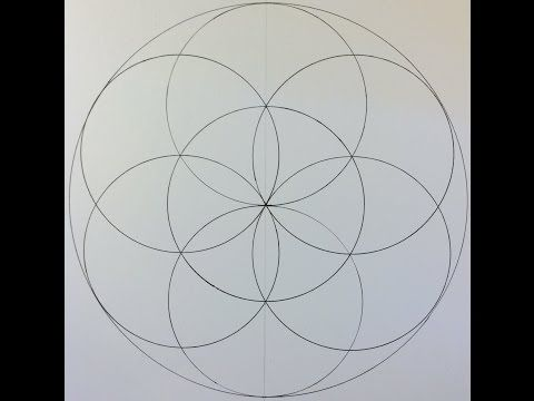 How To Draw The Seed Of Life Youtube Dot Art Painting Mandala
