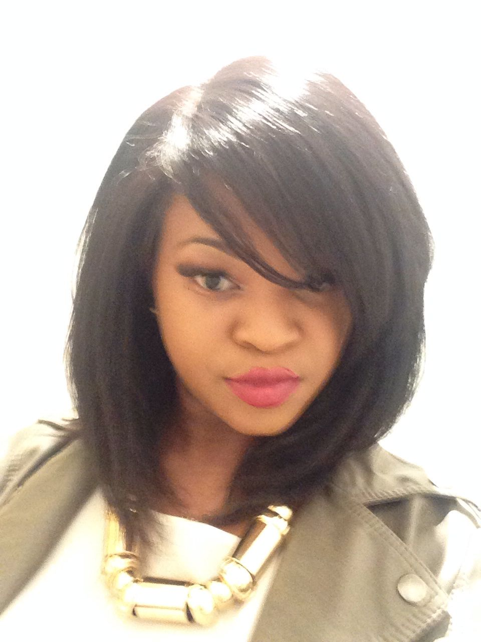 12 Inch Bob Brazillian Hair Lace Closure Full Wig Natural Black