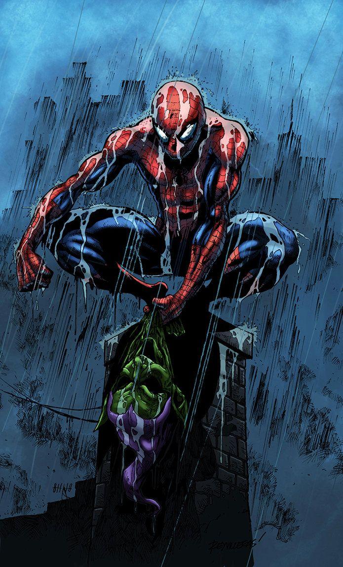 Spider-Man rain by *logicfun on deviantART