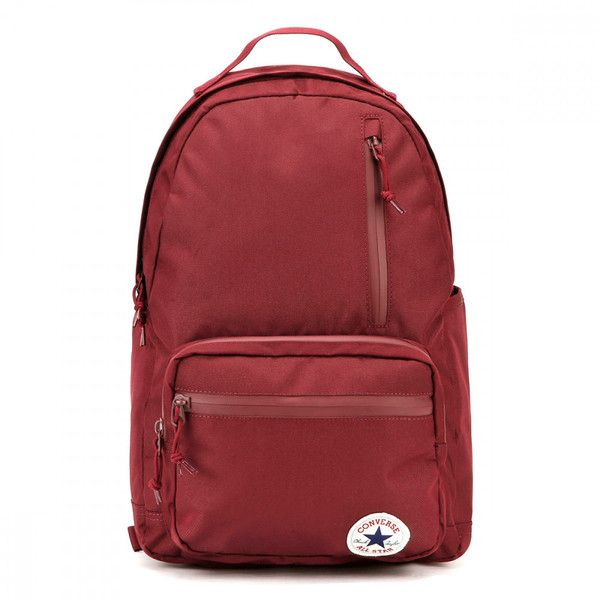 Converse Burgundy The Go Backpack ( 45) ❤ liked on Polyvore featuring bags 0dacfc2e9cd28