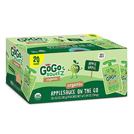 GoGo Squeeze Organic 20 pouches (Apple Apple) Organic