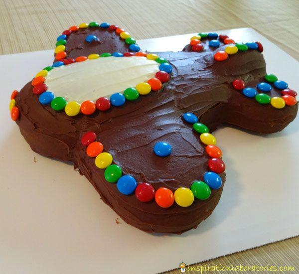 Airplane Birthday Cake And Cookies