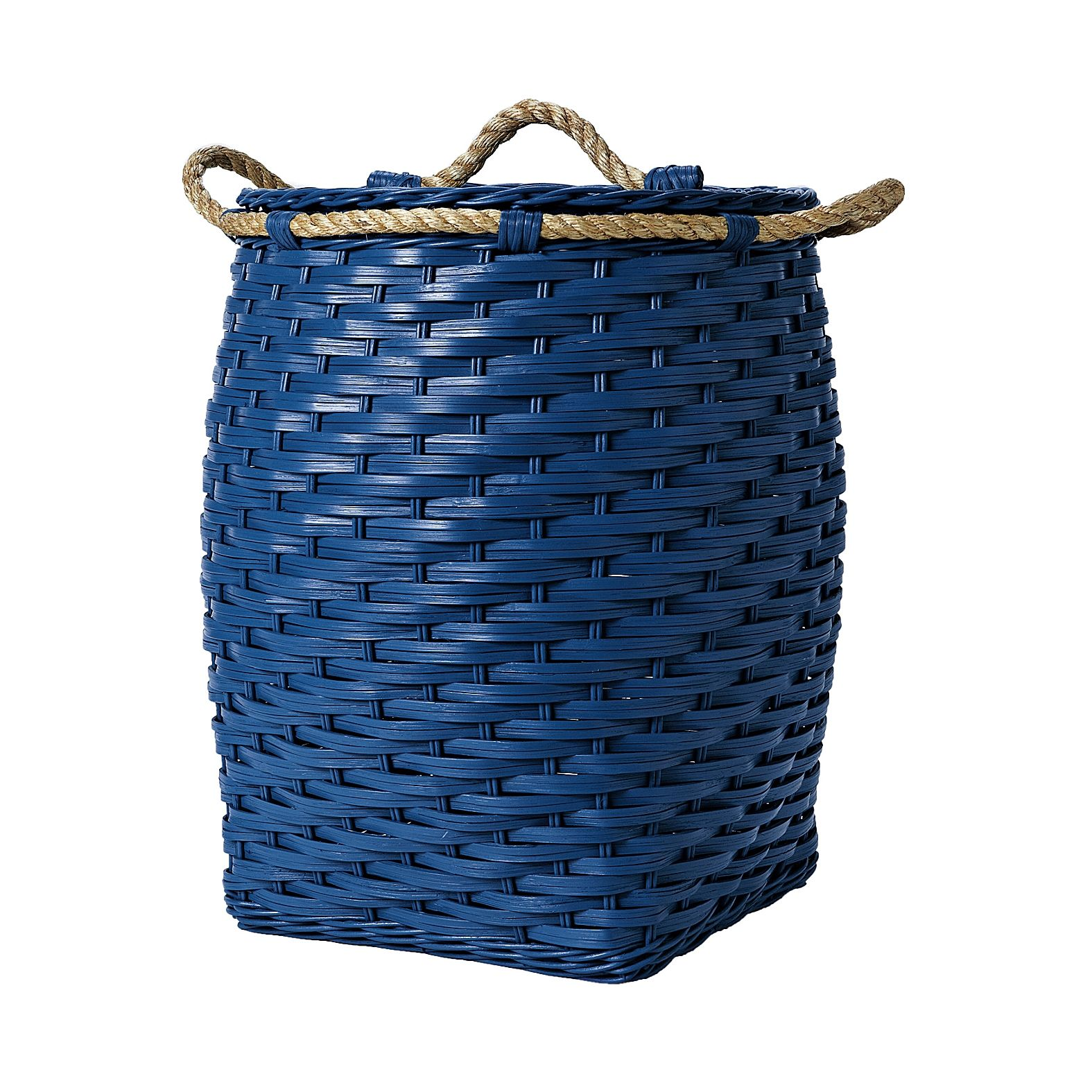 Rope Bin Collection - Cobalt | Serena & Lily