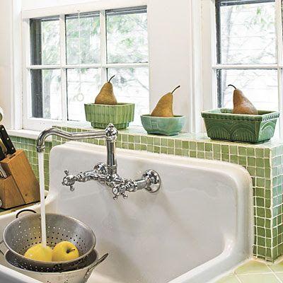 farmhouse kitchen apron sink with single drain board   Farmhouse ...