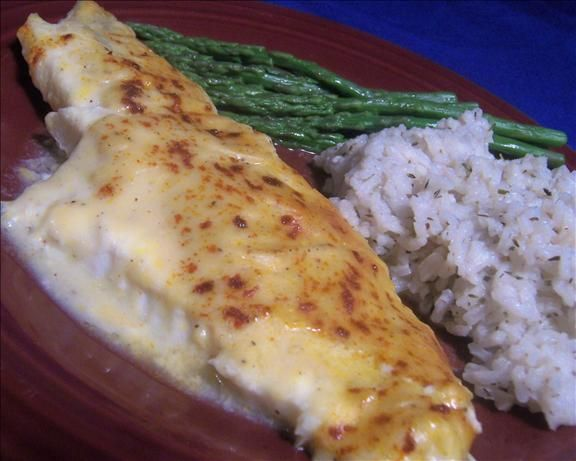Midwest Baked Haddock..I would just use the almond flour for thickening the white sauce.....sounds good.