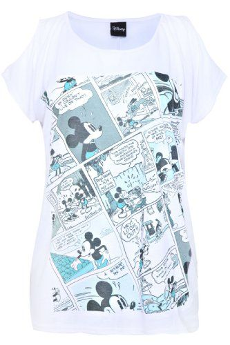 e430e9088d515 Clothes ·  17.00 cool Yoursclothing Womens Plus Size White Disney Mickey  Mouse Print Top With Cold Sho