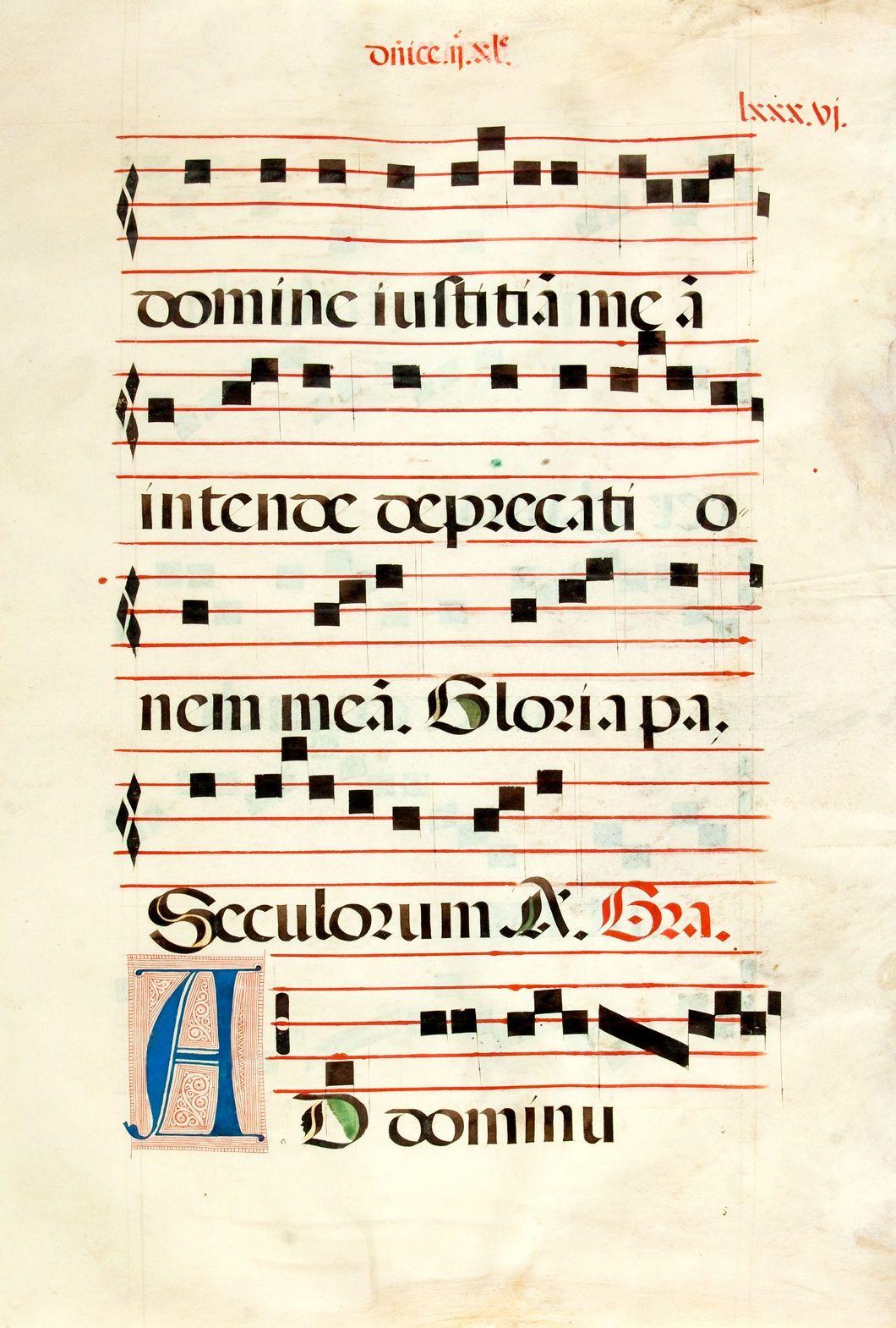 antiphonal manuscript leaf on vellum ca 1500s large leaf from rh pinterest com