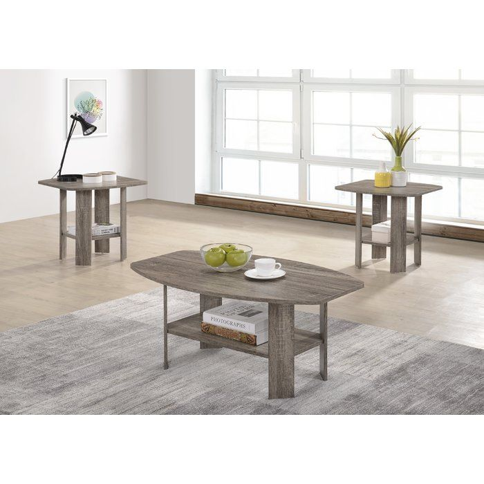 Best Hillen 3 Piece Coffee Table Set 3 Piece Coffee Table Set 400 x 300