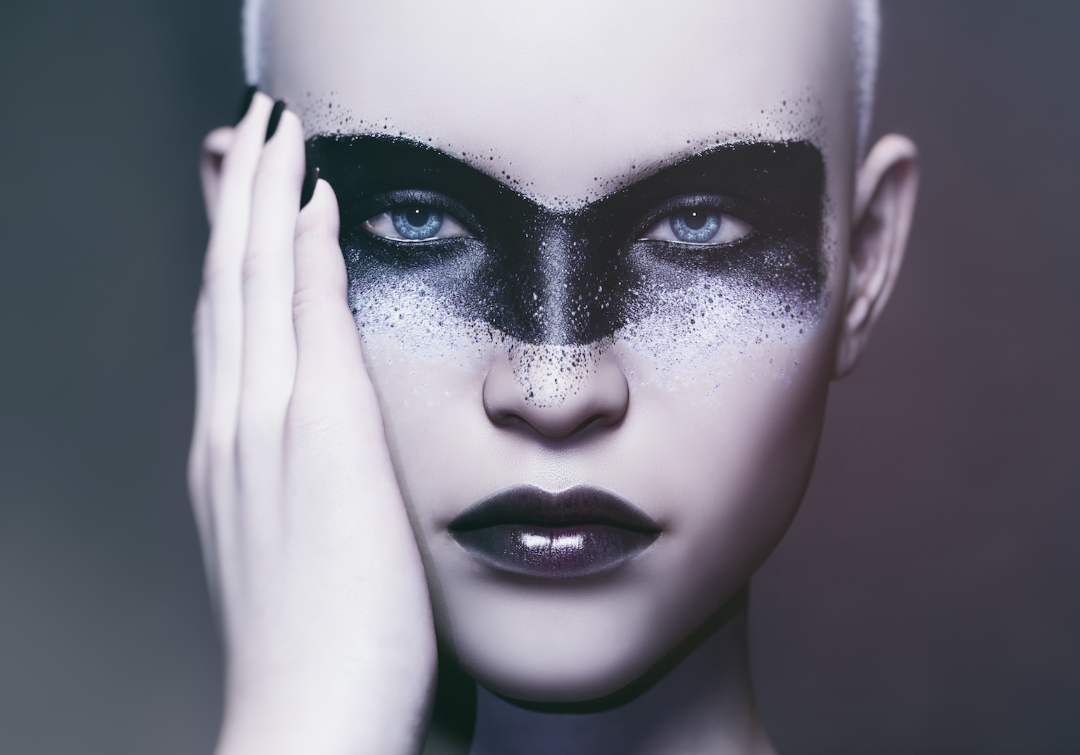Mega Trends Fall/Winter 2020/21 Futuristic makeup