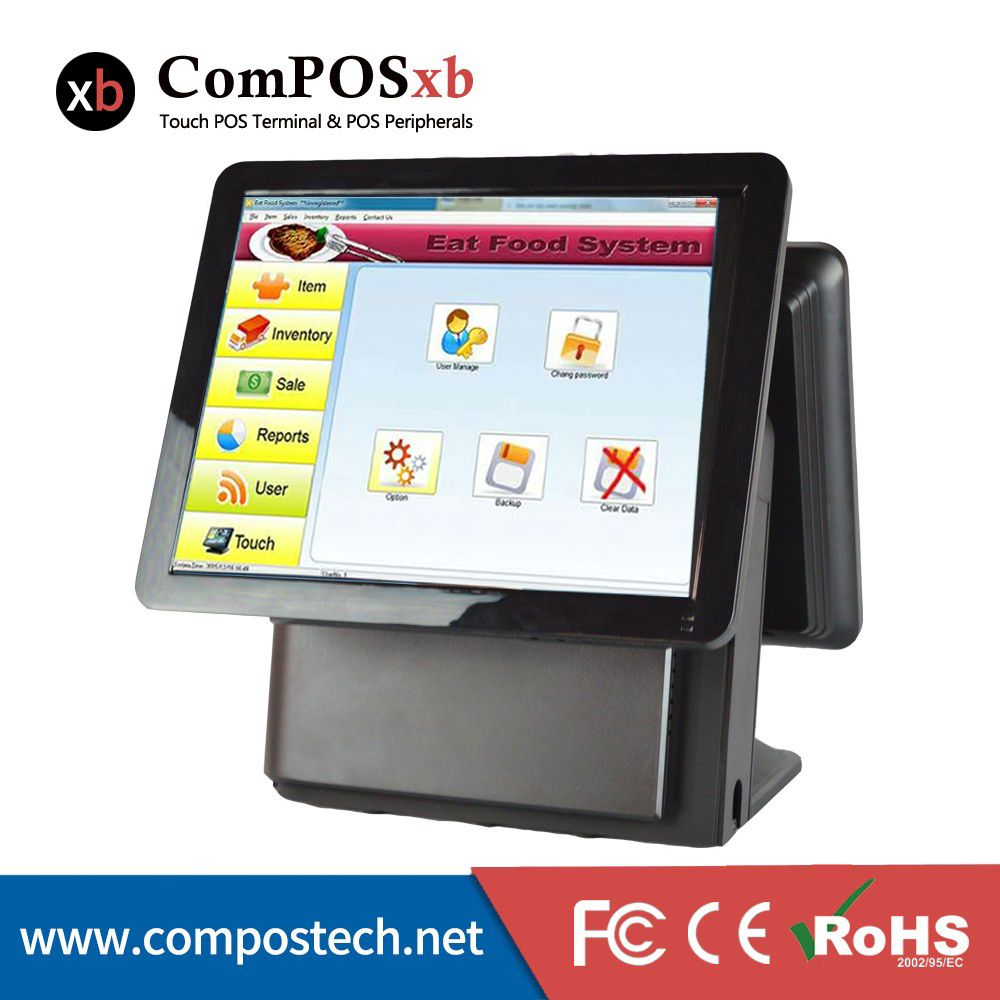 Convenient Operation 15 Dual Touch Screen Monitor Pos Machine Manufacturer Direct Marketing Pos1 Computer Peripherals Touch Screen Display All In One Pc