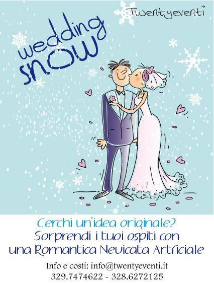 Dai un tocco di originalità al tuo Matrimonio  Che ne pensi di una romantica nevicata durante il taglio della torta?