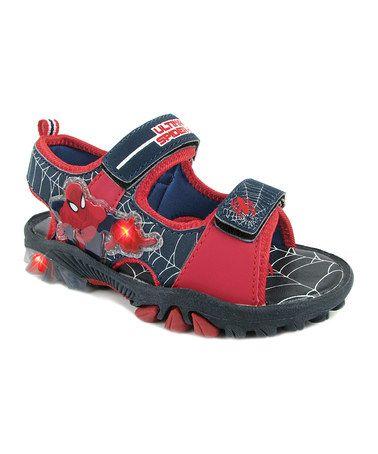Navy Spiderman Light-Up Sandal