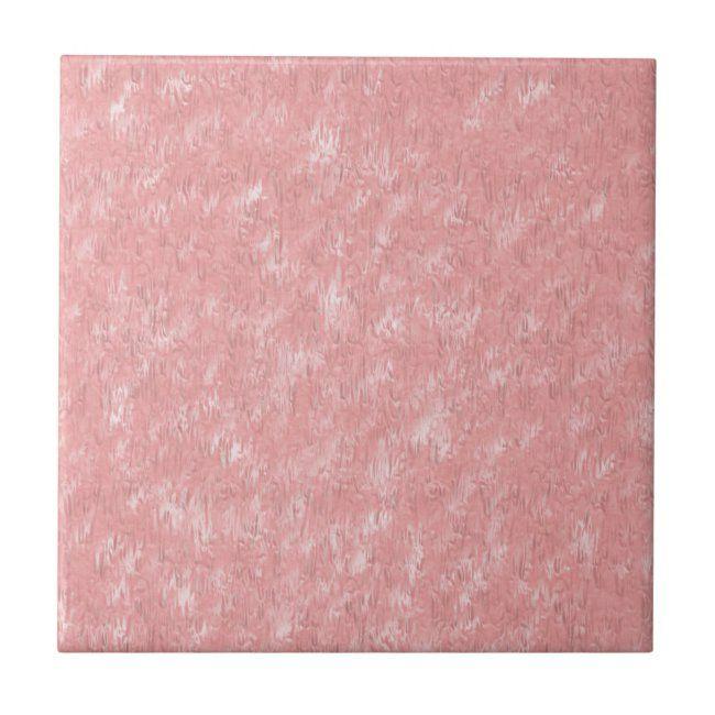 Dusty Rose Marbled Ceramic Tile #tiles #bath #decor #ceramic #tile#botanical #gifts #gardenstyle #flowers #vintage #floral