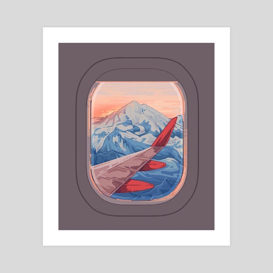 Wanderlust An Art Print By Flora Kirk Painting Art Projects