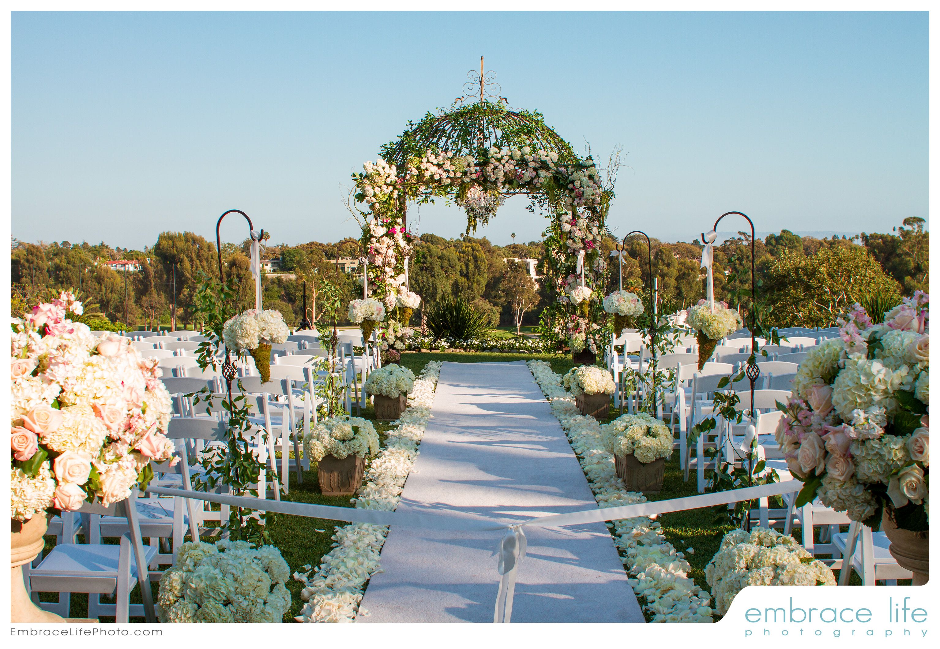 Garden wedding aisle decor   best My dream wedding images on Pinterest  Wedding dressses