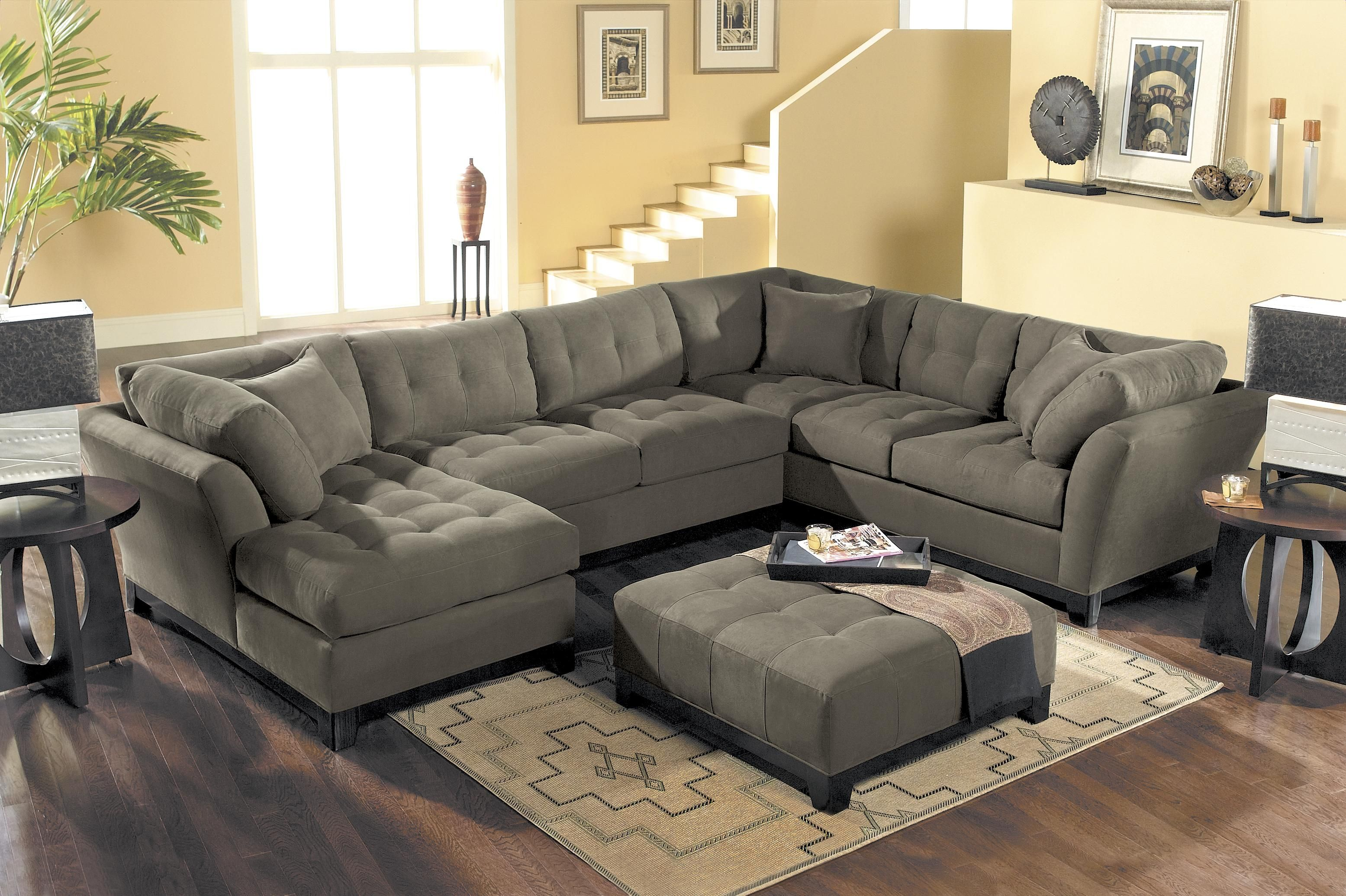 HM Richards Metropolis Tufted Sectional Sofa With Chaise Lounger    BigFurnitureWebsite   Sofa Sectional
