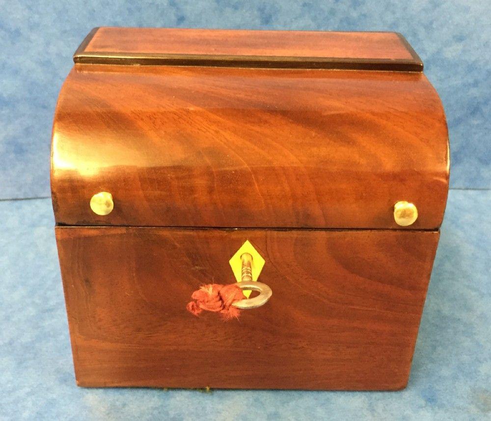 Mahogany Tea Caddy c.1810
