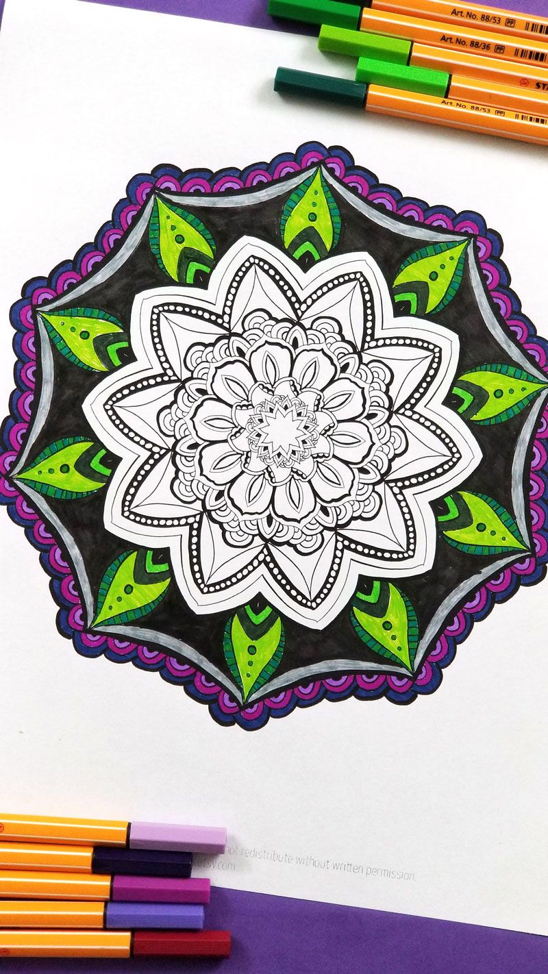 Already Finished Mandala Finished Coloring Pages For Adults