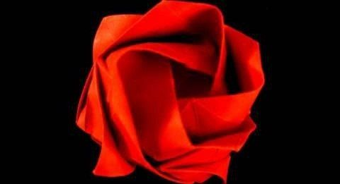 How to Make an Easy Origami Rose Bouquet!   Easy origami rose ...   261x480
