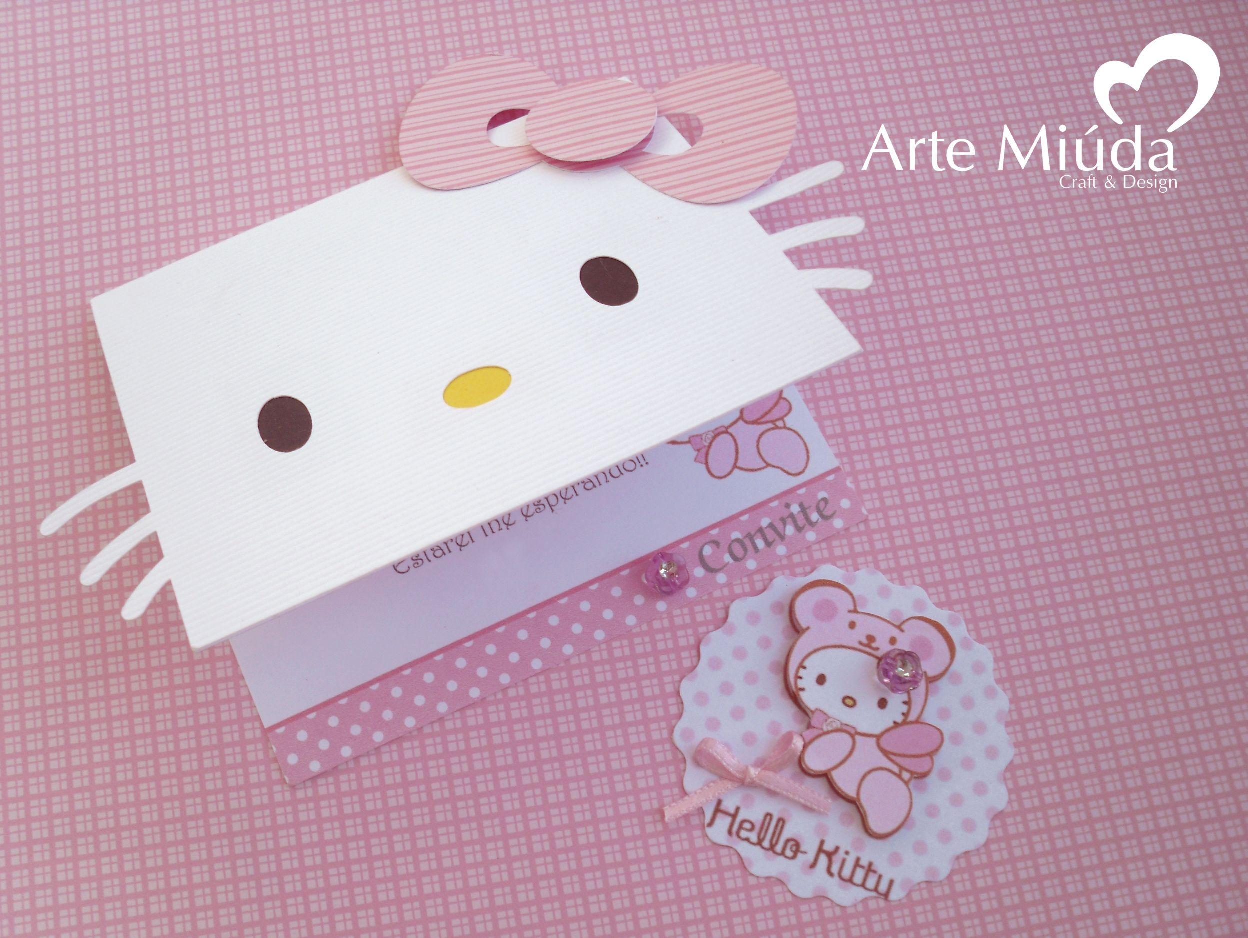 Hello Kitty Convite E Tag Hello Kitty Tarjetas De