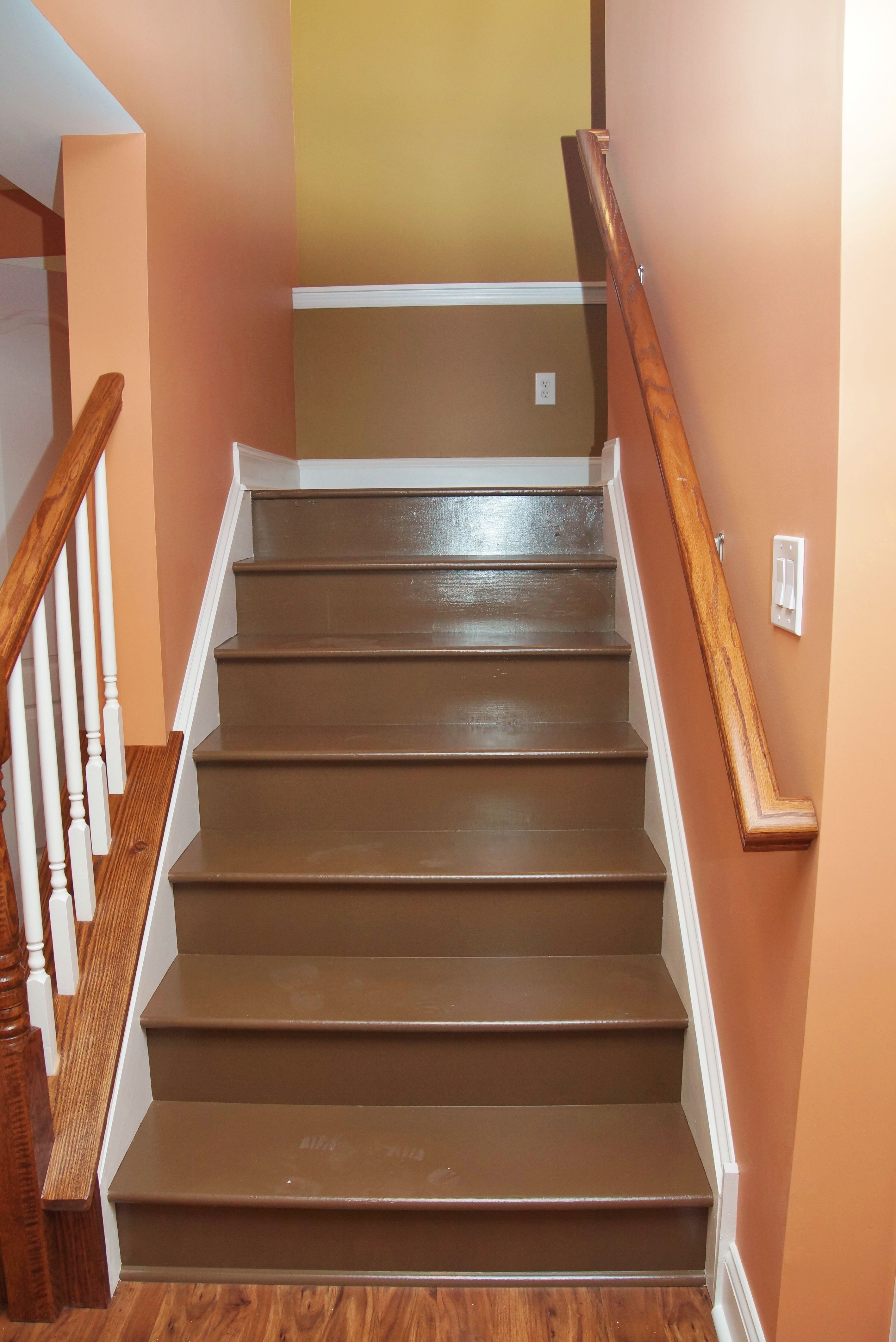 dark basement stairs. painted stairs  Google Search Home stuff Pinterest Paint