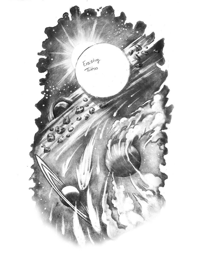 Space Tattoo By Artfullycreative On Deviantart Tattoos Pinterest