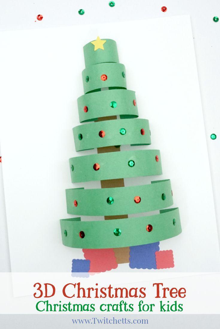 3D Paper Christmas Tree ~ Christmas Crafts for Kids | gabonak ...