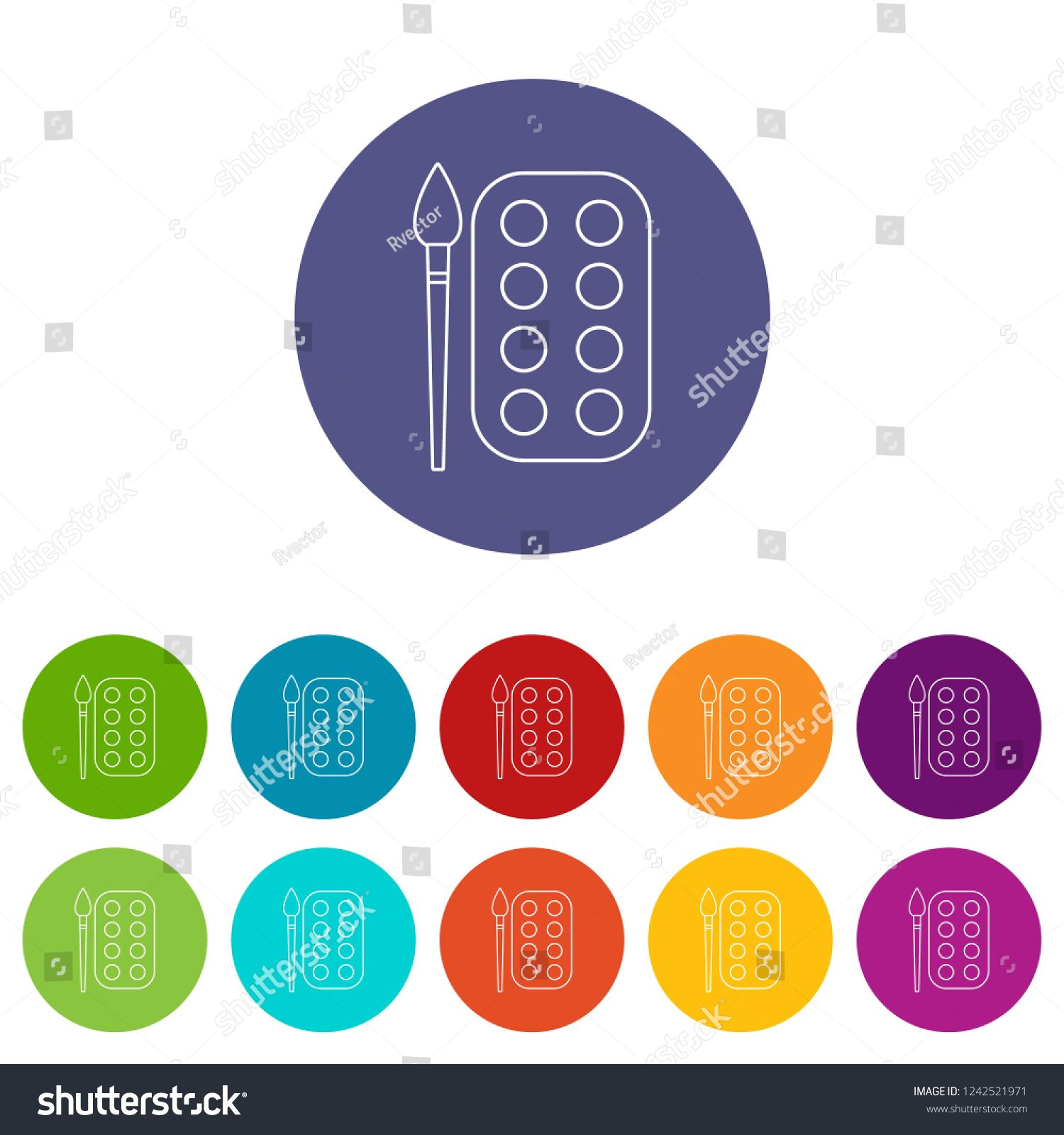 Paint Brush Palette Icons Color Set For Any Web Design On White Background Ad Ad Icons Color Palette Paint In 2020 Business Design Web Design Color Set