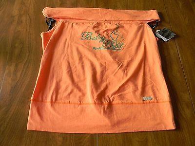 Baby Phat Juniors Womens 2X Orange Peach Mystique Shirt NWT Free Ship
