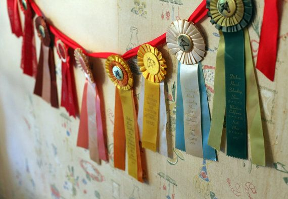 Set of 9 Equestrian Prize Ribbons