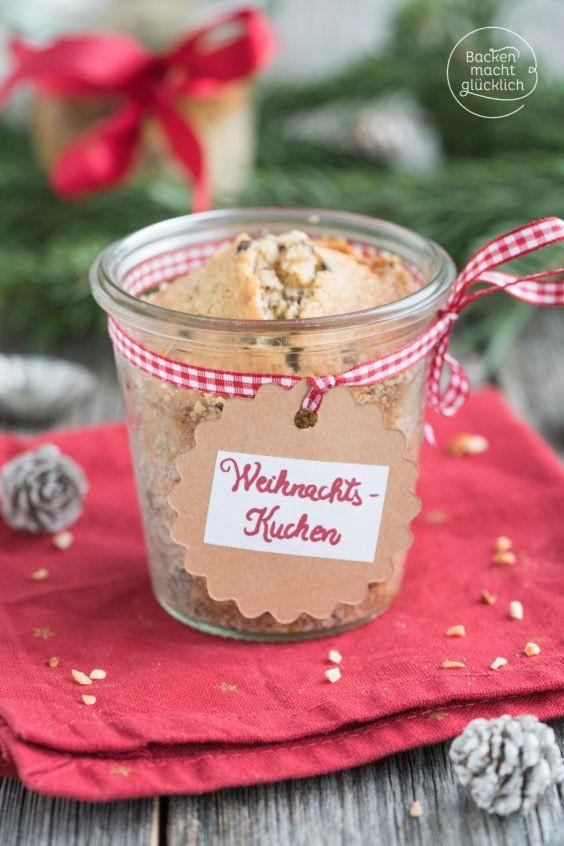 Weihnachtskuchen im Glas | Rezept | Weihnachtskuchen