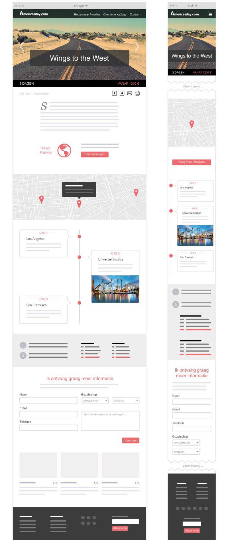 Work In Progress Wireframes For A Travel Web Development Design Wireframe Wireframe Website