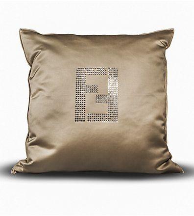 Cuscini Fendi Casa.Fendi Casa Swarovski Crystal Fendi Logo Pillow At Saks Fifth