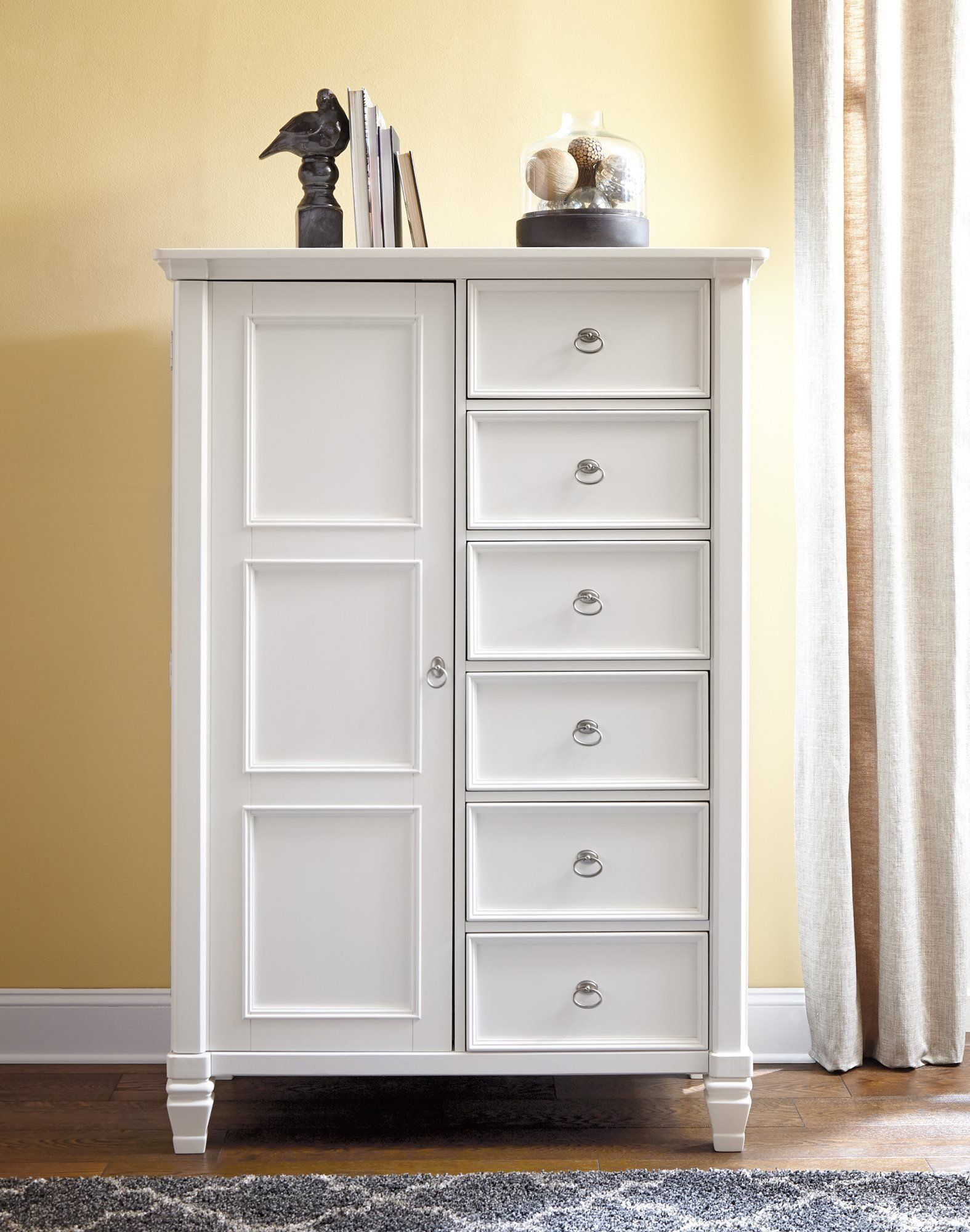 Best Ashley Prentice Door Chest In White Check Out This 400 x 300